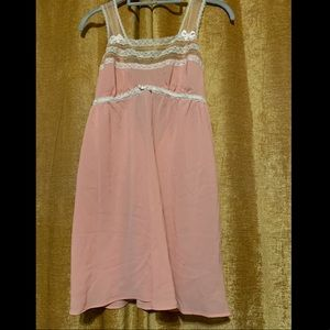 Betsey Johnson intimates powder pink sheer gown